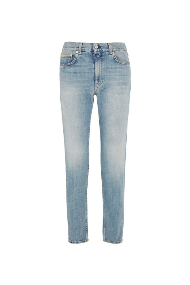 "Jeans, $390, <a href=""https://www.net-a-porter.com/au/en/product/730774/acne_studios/boy-mid-rise-slim-boyfriend-jeans"">Acne Studios at net-a-porter.com</a>."