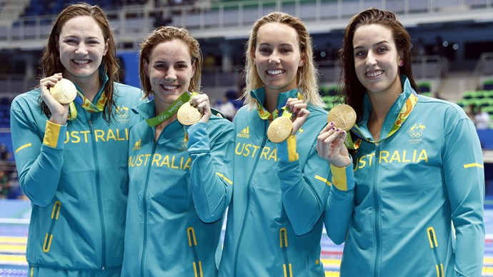 australia olympic women's swimmers