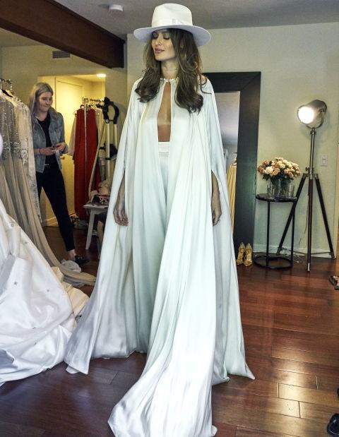Nicole Trunfio at her 2016 wedding to Gary Clark Jr.