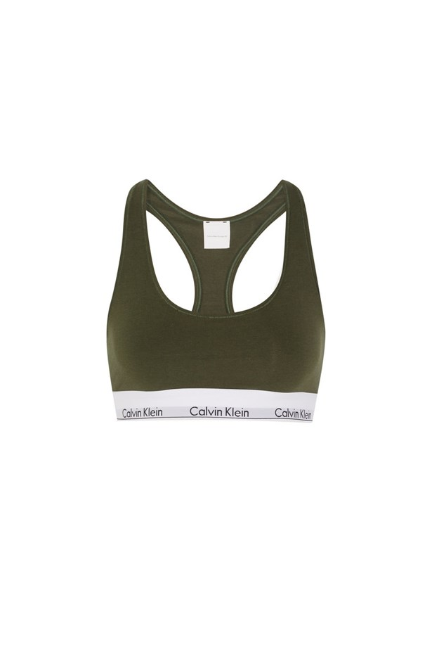 """Bra, $54, <a href=""""https://www.net-a-porter.com/au/en/product/660297/Calvin_Klein_Underwear/modern-cotton-stretch-cotton-blend-soft-cup-bra"""">Calvin Klein Underwear at net-a-porter.com</a>."""