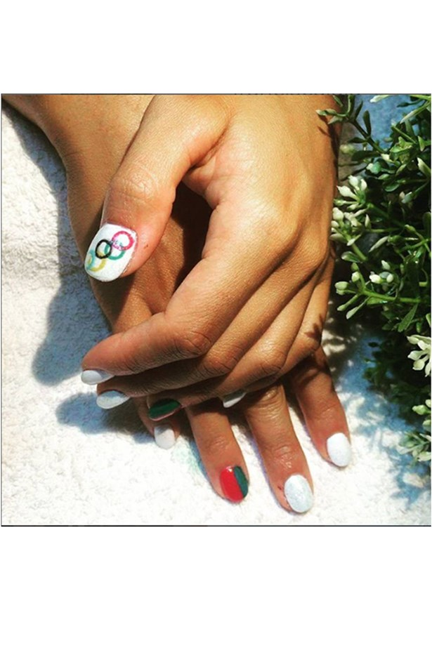 <strong>Francisca Laia, canoe sprint, Portugal</strong><br> Laia took to Instagram to share her Portuguese pride, in mani form.