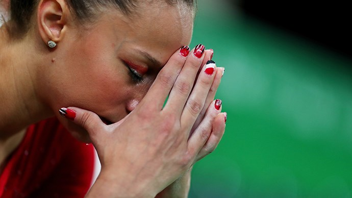 <strong>Sherine Elzeiny, artistic gymnastics, Egypt</strong><br> We think Elzeiny deserves bonus points for her graphic nails.