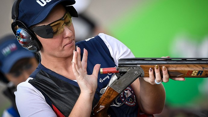 <strong>Corey Cogdell, shooting, USA</strong><br> When your aim is gold, a matching mani is a no-brainer.