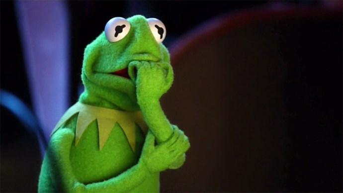Kermit meme.