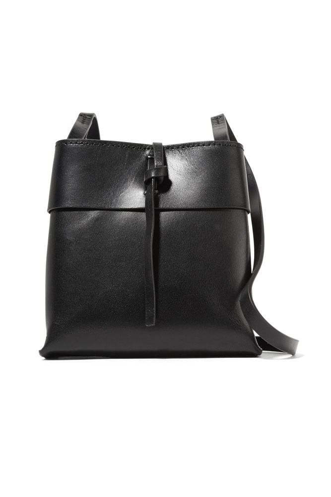 "<strong>Kara</strong><br> <a href=""https://www.net-a-porter.com/au/en/product/675033/Kara/nano-tie-leather-shoulder-bag"">Bag, $493, Kara at net-a-porter.com</a>"