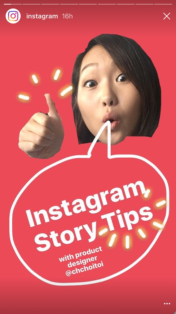 The Instagram Stories demonstration was created by Christine Choi, a designer at Instagram.