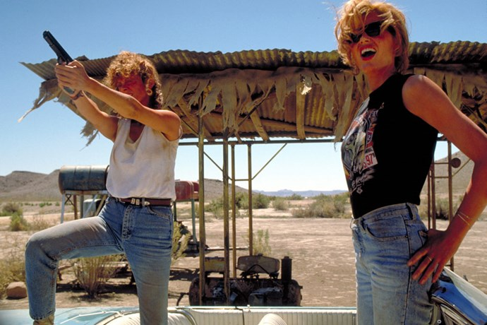 Susan Sarandon and Geena Davis in <em>Thelma & Louise</em> (1991).