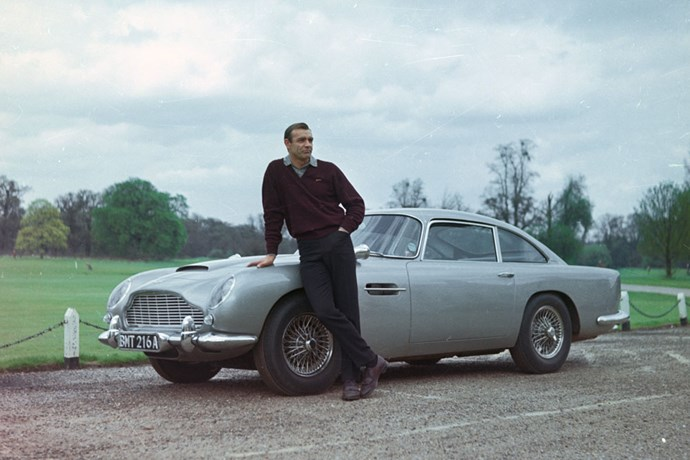A young Sean Connery in <em>Goldfinger </em>(1964).