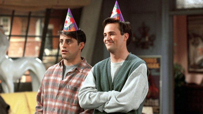 joey chandler friends tv show party hats