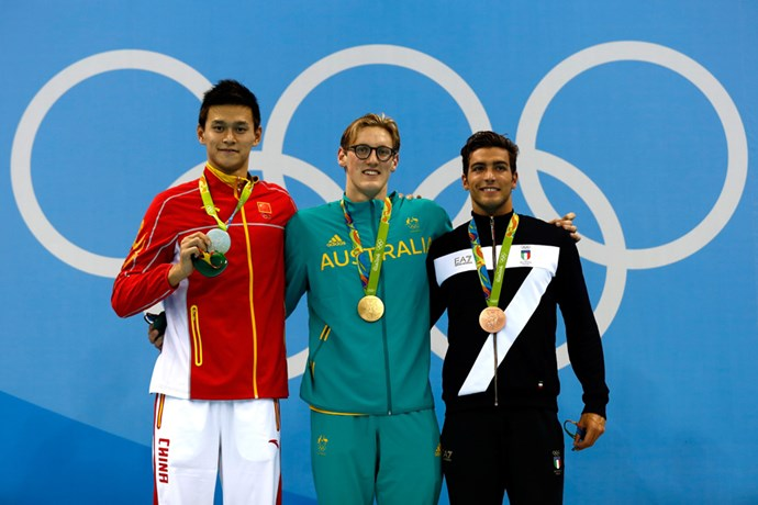 """Mack Horton won the men's 400m freestyle and also made headlines for calling China's Sun Yang (who placed second) a """"drug cheat."""""""