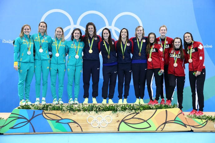 Australia (Leah Neale, Emma McKeon, Bronte Barratt and Tamsin Cook) placed second in the women's 4 x 200m freestyle relay.