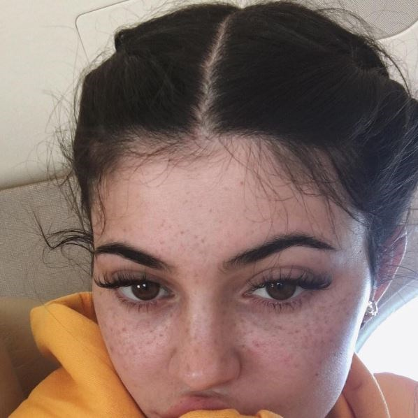 """<p><strong>Kylie Jenner</strong> <p>Kylie showed off all her freckles in an Instagram post. <p><a href=""""https://www.instagram.com/p/BJDmIYqhTch/"""" target=""""_blank"""">Instagram.com/kyliejenner</a>"""