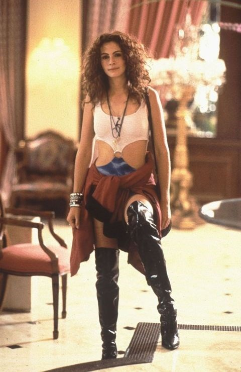 Julia Roberts' thigh-high boots.