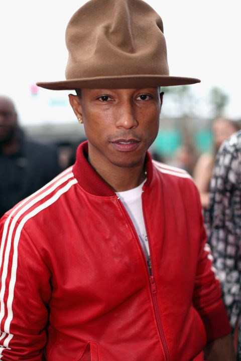 Pharrel's hat.