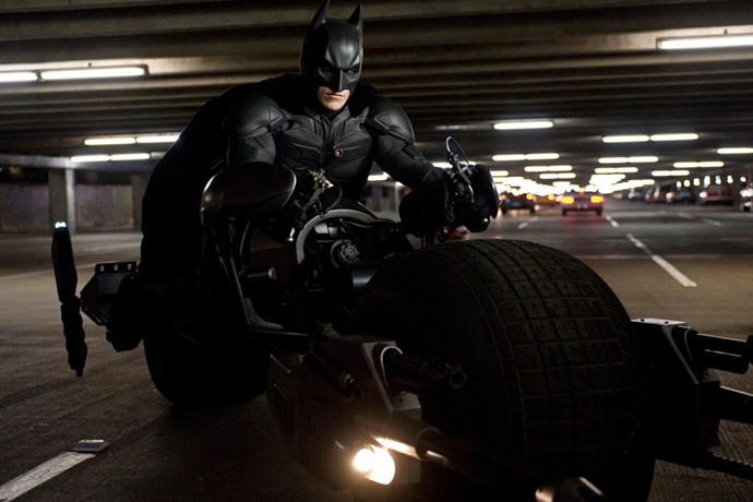 <strong>Batman in<em> The Dark Knight Rises</em> (2012)</strong><BR> There is not a woman in the world who would turn town a ride in the Batmobile or on the Batbike. Like a true rev head, Batman was obsessed with his gadgets, of going harder, higher, faster, stronger. SWOON.
