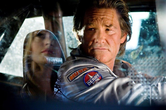 <strong>Stuntman Mike McKay, <em>Death Proof</em> (2007)</strong><br> Played by Kurt Russell, Stuntman Mike and his beloved 1970 Dodge Challenger of the Tarantino film,<em> Death Proof </em>were bad news. He was a killer, a women-beater – but I guess, if you didn't know that, there was a certain sexiness about him. Maybe it was fact he scored hottest lapdance of movie history or simply, just the car…