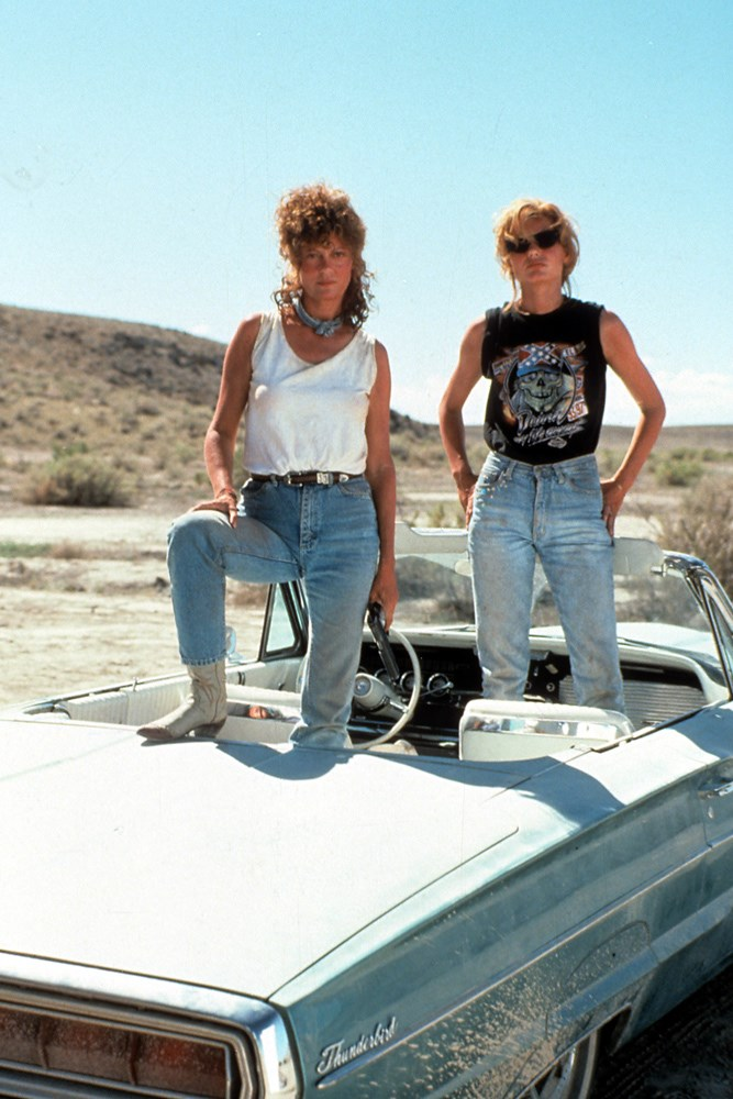 <strong>Thelma Dickinson and Louise Sawyer, <em>Thelma & Louise</em> (1991)</strong><br> You don't need to know about stats and engines and pistons to be a revhead, often being a car lover just comes from an obsession with the freedom of the road. The unknown. The drive. The escape. Thelma and Louise (Geena Davis and Susan Sarandon) are great examples of this type of love. And they're hot as hell.