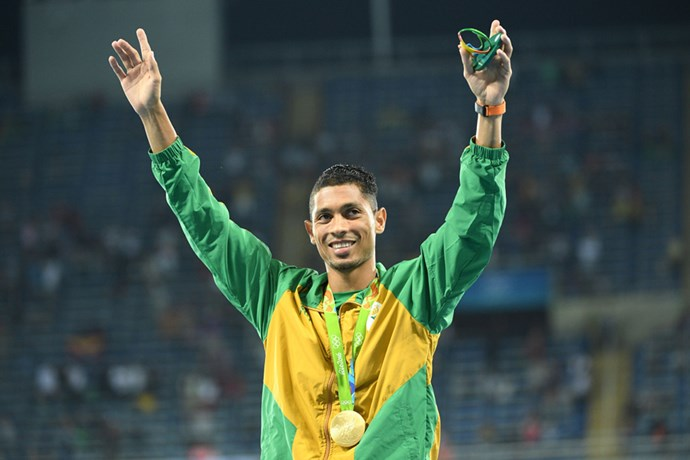 <p><strong>South Africa:</strong> Approx. $47,000 AUD. <p>Pictured: Wayde van Niekerk after winning the men's 400 athletics event.