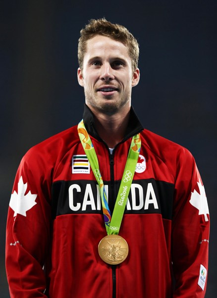 <p><strong>Canada:</strong> Approx. $20,000 AUD. <p>Pictured: Derek Drouin after winning the men's high jump final.