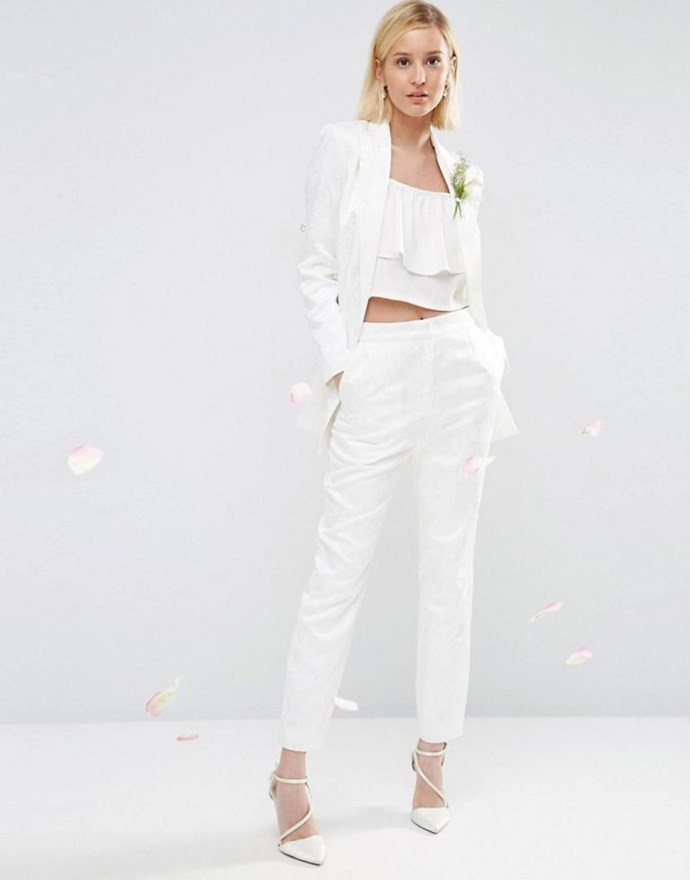 <p>ARIES<p> <p> You're such a FIRST type that you really pretty much have always thought you were going to do something original like wear pants to your wedding — even before Solange Knowles made it the coolest thing ever. Your aggressive, bold personality is perfect for pants. Because who even has time for all that material on a dress?<p>