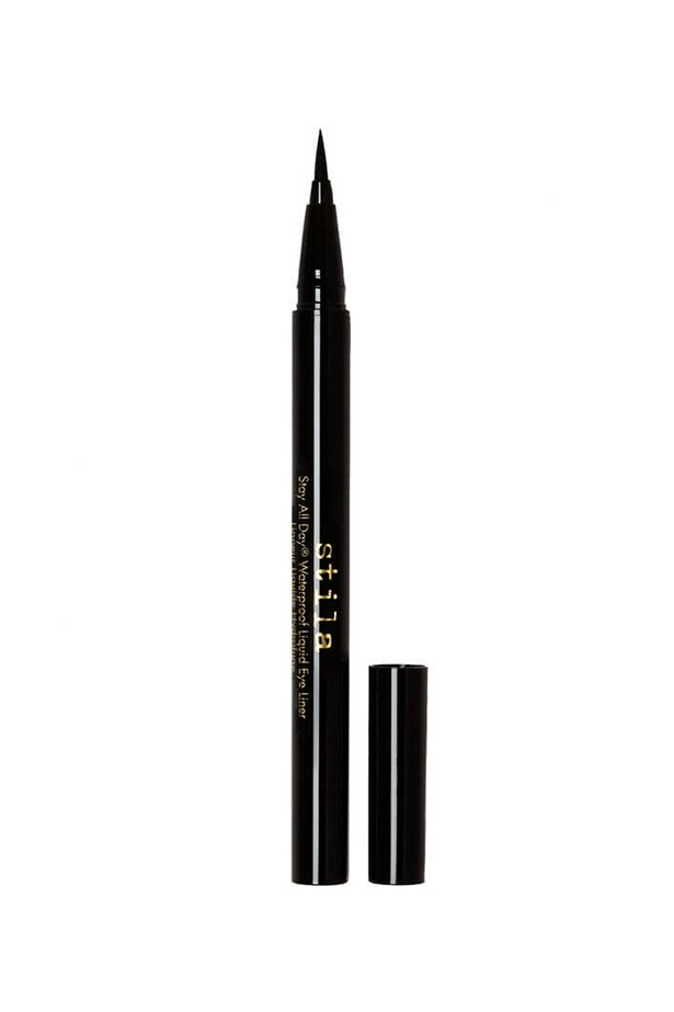 """Applying winged liner is so challenging it could be an Olympic sport. The trick? Makeup artist Sarah Lucero advises you """"put mascara on first. It helps you see the true eye shape and where you should lift the wing from."""" <br><br> <em>Stay All Day Waterproof Liquid Eye Liner in Intense Black, $32, Stila, mecca.com.au </em>"""