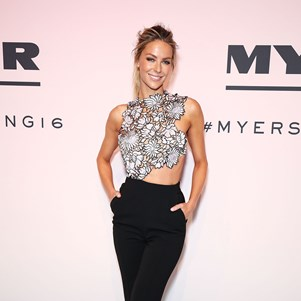 jennifer hawkins myer spring 2016 fashion launch