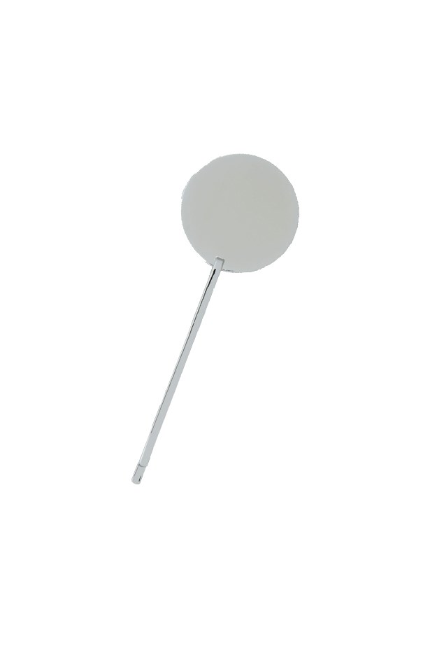 "Hair pin, $9, <a href=""http://www.cosstores.com/us/Women/Hair_Accessories/Large_disc_hair_pin/10672456-22077762.1#22077764"">COS</a>."
