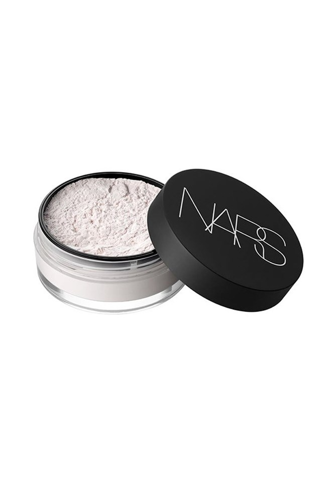 "<strong>Powder</strong><br> Use this to help set your foundation when you first apply, then later in the day to keep shine in check.<br> <em><a href=""http://mecca.com.au/nars/light-reflecting-loose-setting-powder/I-015225.html"">Light Reflecting Loose Setting Powder, $54, Nars</a></em>"