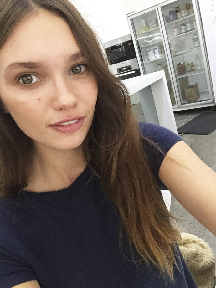 <p> <strong>Emily Jean</strong><p> <p> <strong>Fashion week prep:</strong> Yoga and interval training. I do classes and use an app. I can't join gyms, though. If I join, I don't go. I go more often if I'm not committed- it's weird. <p> <strong>Fave workout:</strong> I like that yoga is about stretching and feeling open and loose. It's calming and not judgemental- you can be at any level. I like that you feel an improvement every time you go. <p> <strong>Energy boost:</strong> Avocado on toast. <p> <strong>Go-to smoothie:</strong> I don't drink them; they make feel heavy. Water is better. <p> <strong>Pump-up track:</strong> Anything on Daft Punk's <em>Discovery</em> album. <p>