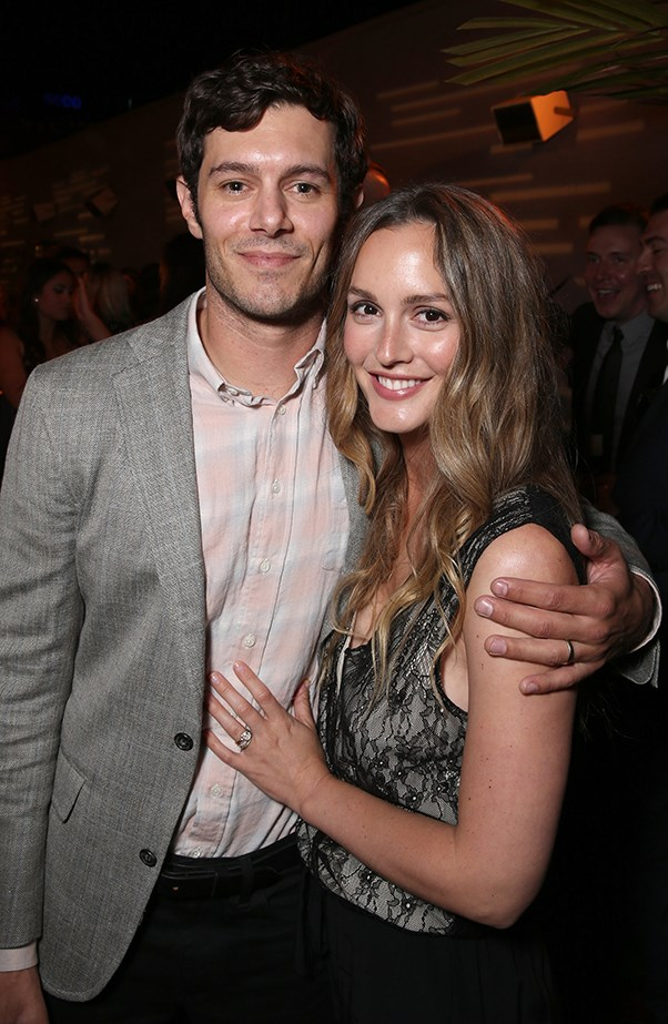Adam Brody and Leighton Meester at StartUp Party
