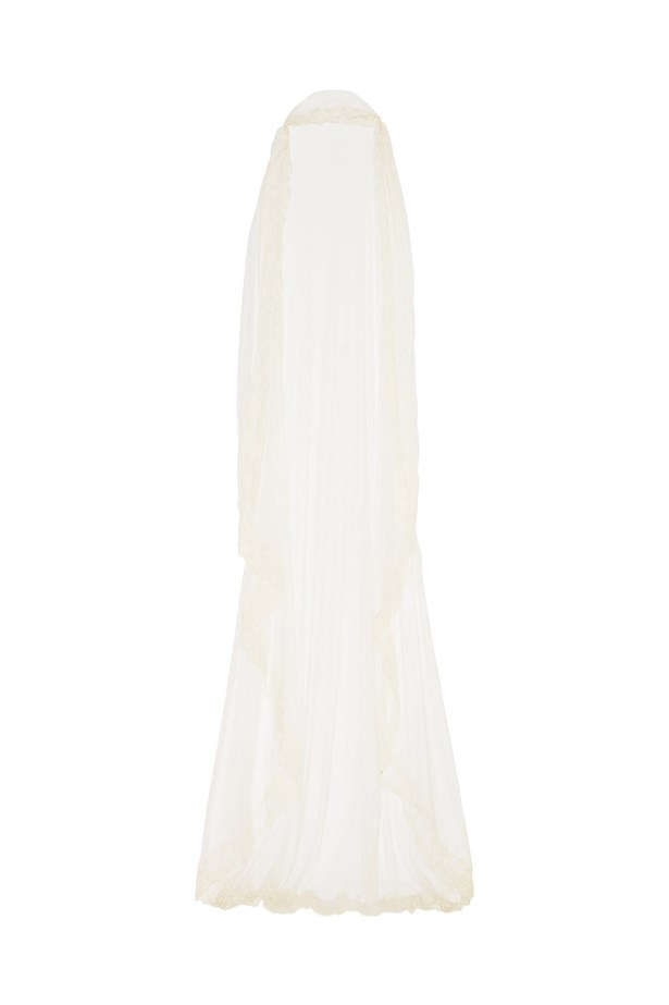 "Veil, $1,217, <a href=""https://www.net-a-porter.com/au/en/product/543610/rime_arodaky/baum-embroidered-silk-tulle-veil"">Rime Arodaky at net-a-porter.com</a>."