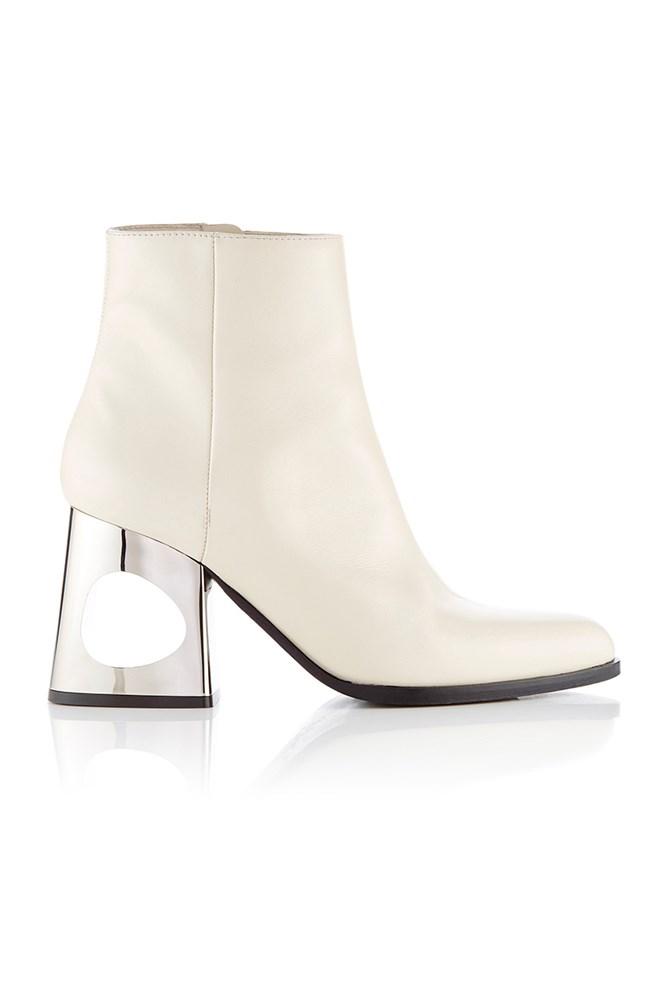 "<a href=""https://www.modaoperandi.com/marni-pf16/circle-heeled-ankle-boots"">Boots, approx. $1350, Marni at modaoperandi.com</a>"