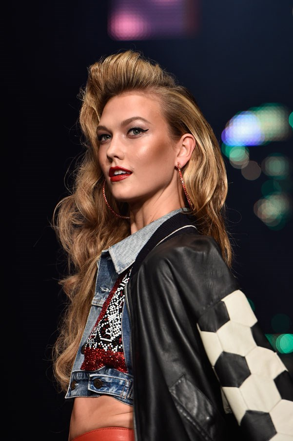 """<strong>Karlie Kloss</strong> <br><br> Kloss was spotted walking at a charity show in her Missouri home town. """"I was discovered at 13 in a mall in St. Louis. I had never been on an airplane, actually. Funny now that I think about it, now I live on airplanes. I live at 30,000 feet."""""""