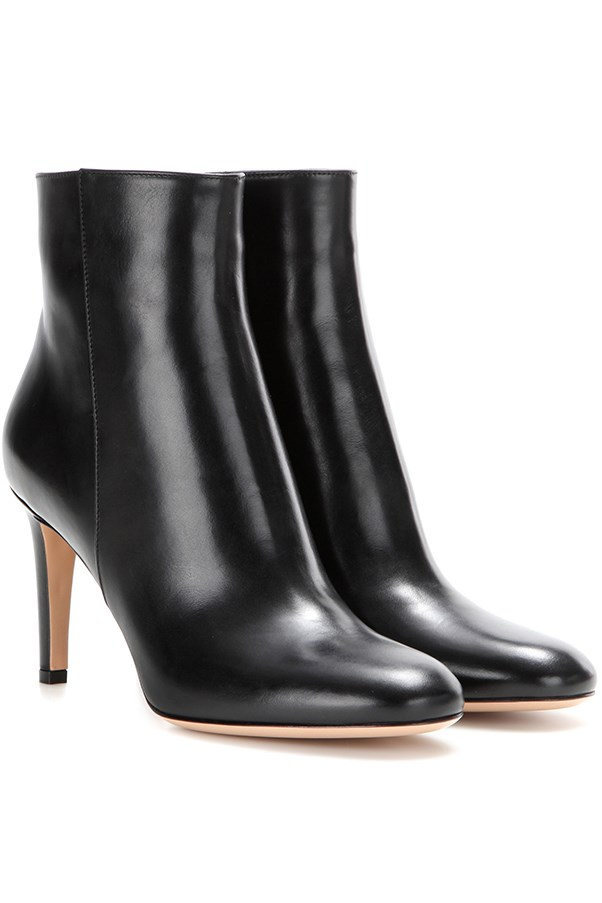 "<strong>Sleek & Shiny Ankle Boots</strong> <br><br> Gianvito Rossi boots, $1,305, <a href=""http://www.mytheresa.com/en-au/stilo-leather-ankle-boots-603183.html?catref=category"">mytheresa.com</a>"