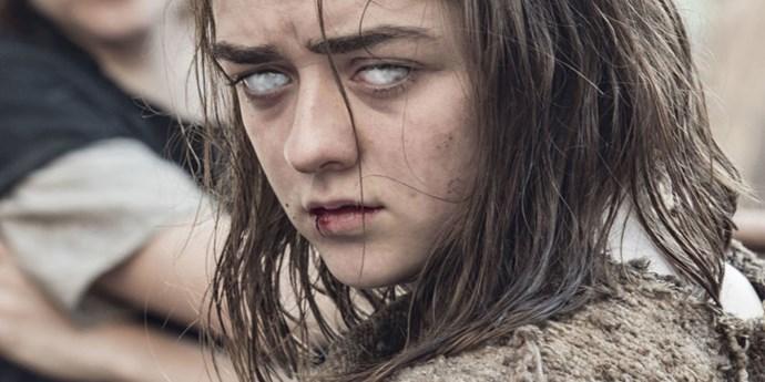 Arya Stark on Game of Thrones.