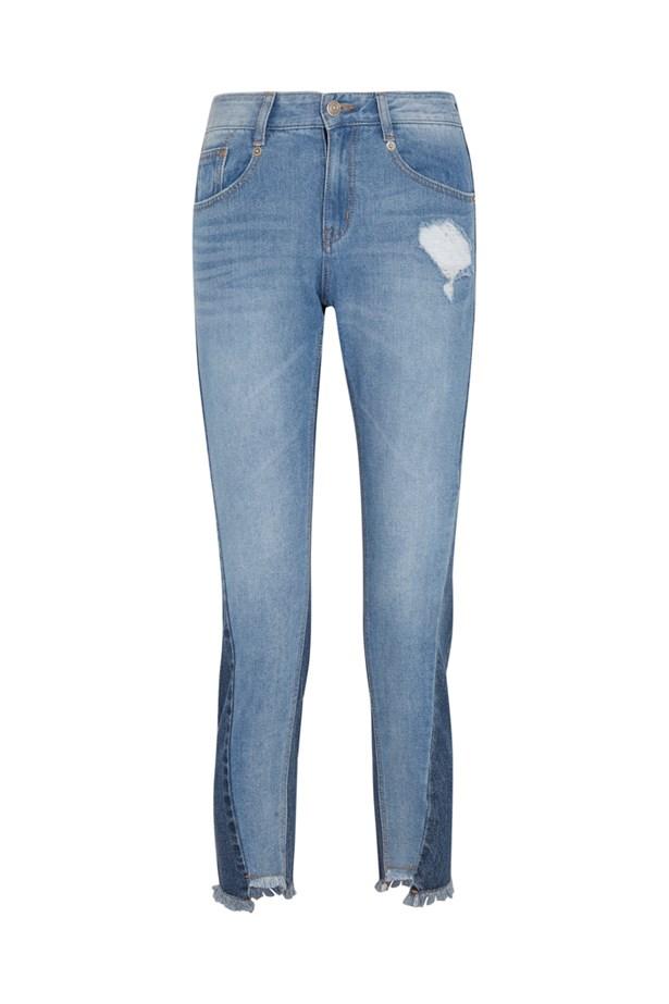 """Jeans, $340, <a href=""""https://www.net-a-porter.com/au/en/product/741732/steve_j___yoni_p/distressed-mid-rise-straight-leg-jeans"""">Steve J & Yoni P at net-a-porter.com</a>."""