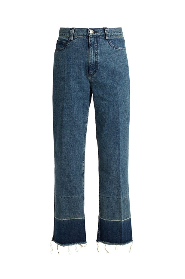 "Jeans, $584, <a href=""http://www.matchesfashion.com/products/Rachel-Comey-Legion-high-rise-slim-leg-jeans%09-1054664"">Rachel Comey at matchesfashion.com</a>."
