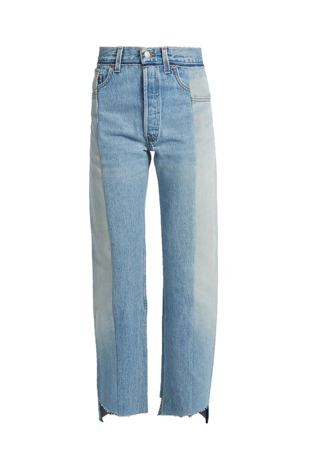"Jeans, $1,373, <a href=""http://www.matchesfashion.com/products/Vetements-Reworked-high-rise-straight-leg-jeans-1065801"">Vetements at matchesfashion.com</a>."
