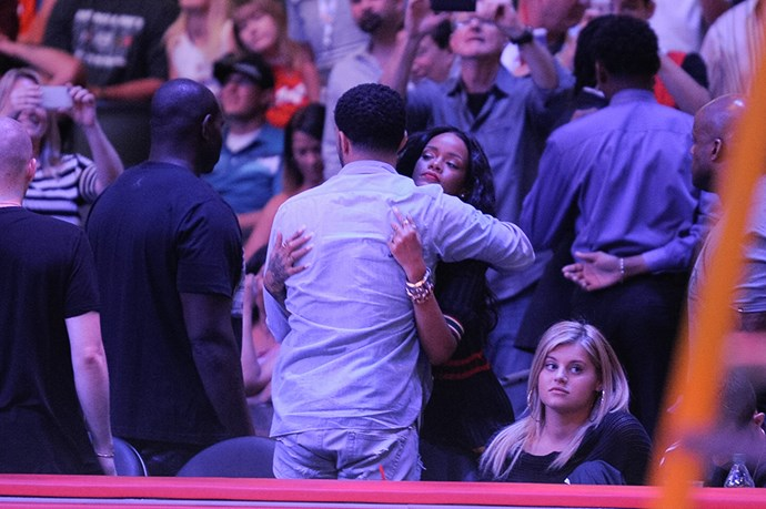 When they showed love at a basketball game.