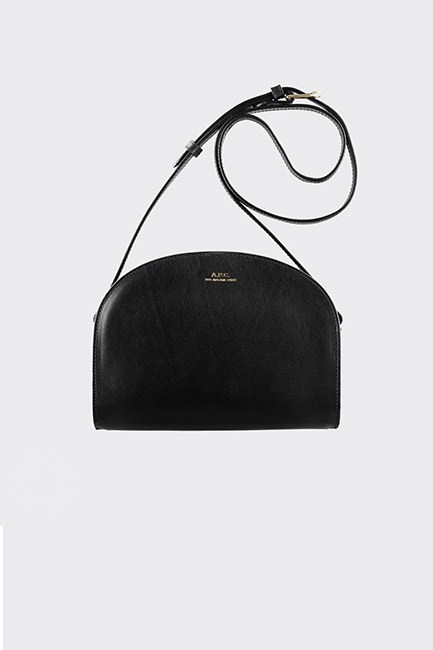 "<strong>A chic bag.</strong> <br><br>Wanna spoil your bestie? Go all-out with an Italian leather shoulder bag. Perfection. <br><br>Bag, $550, <a href=""https://www.incu.com/products/demi-lune-bag-black"">A.P.C. at incu.com</a>"