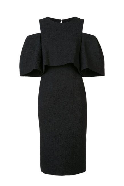 "Cold Shoulder Dress, approx. $3,546, <a href=""http://www.farfetch.com/au/shopping/women/monique-lhuillier-cold-shoulder-dress-item-11570293.aspx?storeid=10032&from=listing&tglmdl=1&ffref=lp_pic_719_2_"" target=""_blank"">Monique Lhuillier at farfetch.com</a>."