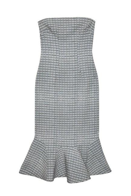 """Raffia Drop Flair Strapless Dress, $370, By Johnny at <a href=""""http://www.myer.com.au/shop/mystore/raffia-drop-flair-strapless-430437700"""" target=""""_blank"""">myer.com.au</a>."""