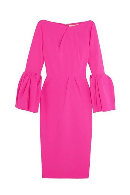 "Margot Bonded Stretch-Crepe Dress, approx. $1,790, <a href=""https://www.net-a-porter.com/au/en/product/759375/roksanda/margot-bonded-stretch-crepe-dress"" target=""_blank"">Roksanda at net-a-porter.com</a>."
