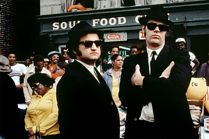 <strong><em>The Blues Brothers</em> (1980):</strong> A surreal casting line-up including Twiggy, Aretha Franklin and Steven Spielberg.