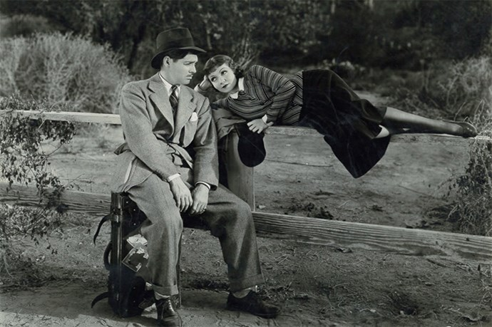 <strong>It Happened One Night (1934):</strong> A runaway heiress falls for an unemployed journalist while on a bus trip. Love an unlikely romance.