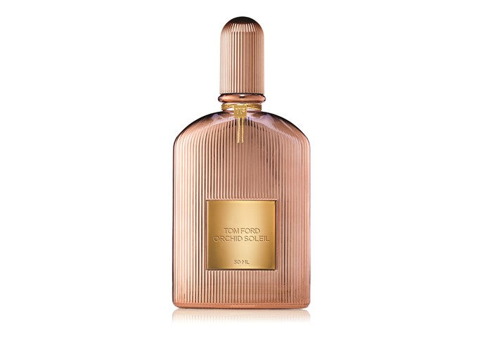 <p>Tom Ford's cult fragrance favourite Black Orchid gets a summer update with Orchid Soleil. Bigarade, pink peppercorn, and fresh cypress blend with vanilla, chestnut cream and patchouli to create an effortless, sexy scent for day or night.</p> <p><em>Orchid Soleil, $190 for 50ml, Tom Ford, 1800 061 326</em></p>