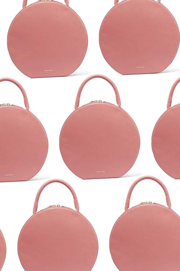 """Bag, $1,585, <a href=""""https://www.net-a-porter.com/au/en/product/688814/mansur_gavriel/circle-leather-tote"""">Mansur Gavriel at net-a-porter.com</a>."""