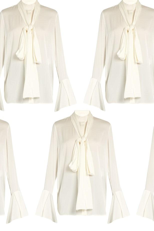 "Top, $1,656, <a href=""http://www.matchesfashion.com/au/products/Ellery-Little-Me-double-georgette-blouse-1060024"">Ellery at matchesfashion.com</a>."