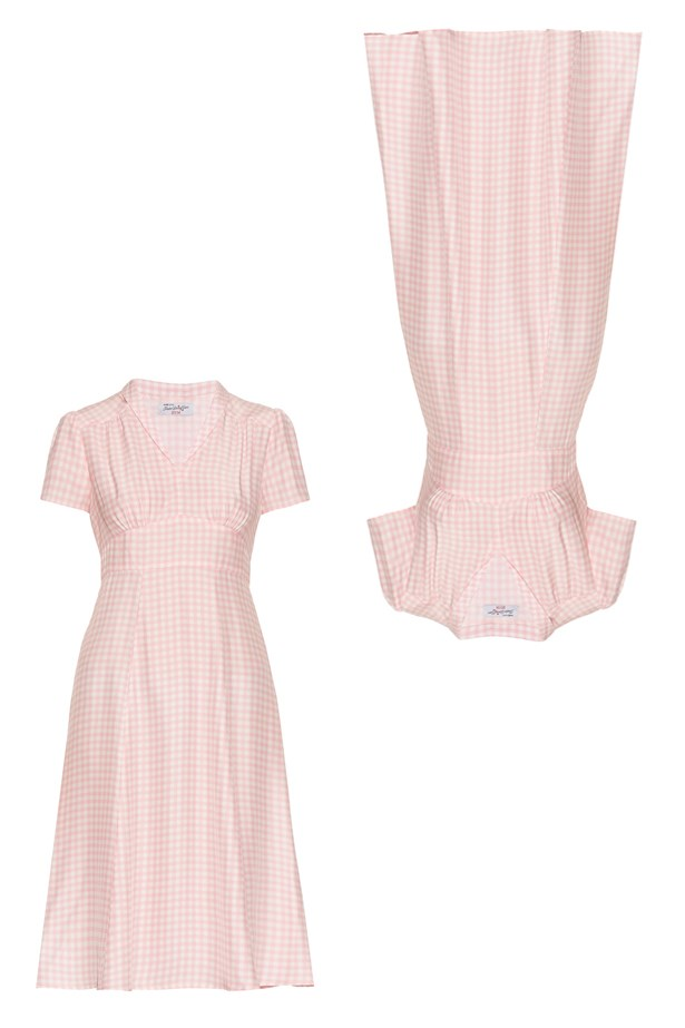 "Dress, $864, <a href=""http://www.matchesfashion.com/au/products/HVN-Morgan-gingham-short-sleeved-dress-1070693"">HVN at matchesfashion.com</a>."