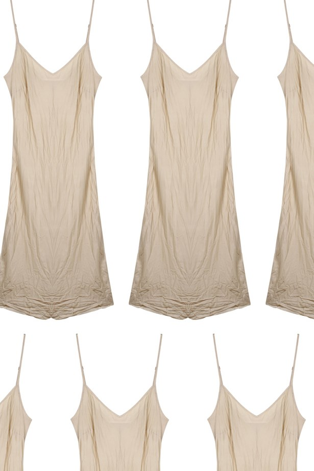 "Slip dress, $170, <a href=""https://www.mychameleon.com.au/bias-slip-nude-p-4667.html?newstuff=newstuff&typemf=women"">Organic by John Patrick at mychameleon.com</a>."